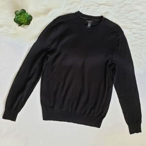 Banana Republic Black 100% Merino Wool Sweater